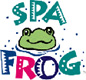 Spa Frog Logo - Contact us in Pensacola, Florida, for top-of-the-line hot tubs, tanning beds, and outdoor kitchens.